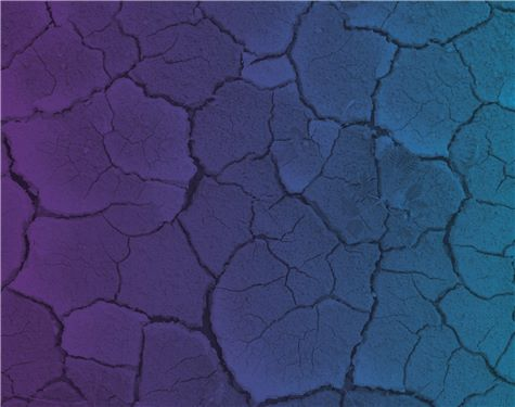 Dried dirt with purple and blue overlay